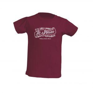 Camiseta Burdeos Niño La Musica Blanco