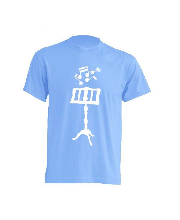 Camiseta Celeste Atril Blanco