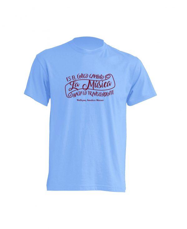 Camiseta Celeste La Musica Burdeos