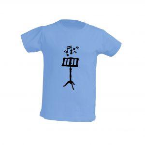 Camiseta Celeste Niño Atril Negro