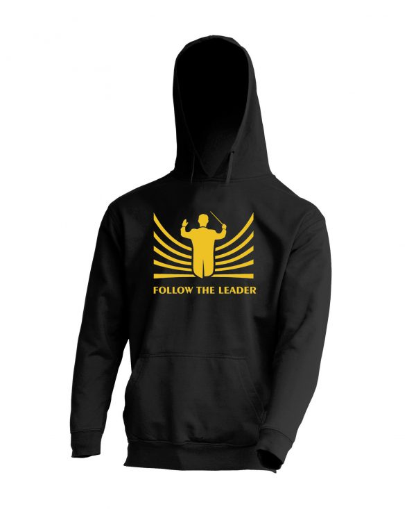 Sudadera Negra Follow the leader Amarillo