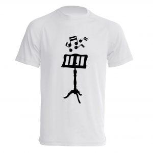 Camiseta Blanco Atril Negro